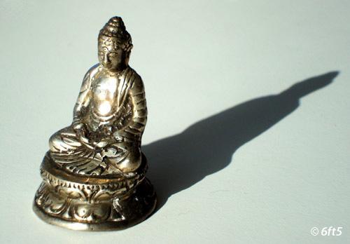 buddha with shadows