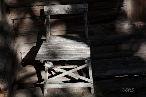 Chair in the shadow